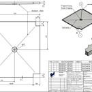 Versandmetall Resterende voorraad: speciaal RVS, douchebak {R1A} 1,5 mm, BINNEN slijpen K320, diepte 748 mm, breedte 820 mm, hoogte 20 mm, gewelfd (ca. 10 mm) 1x afvoergat volgens schets