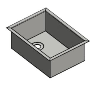 Versandmetall -Sonder  Edelstahl Waschbecken, Camperausbau { R3B } 1,5mm  umlaufender Rand 20mm, INNEN  Schliff K320, Breite  320mm, inkl. Rand 357 mm, Länge 410mm,  inkl Rand 447 mm, Tiefe 150mm
