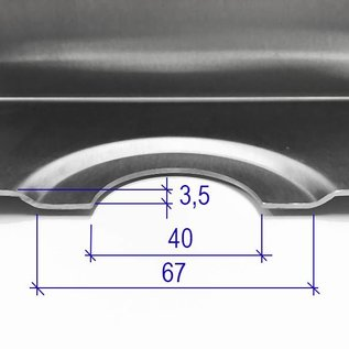 Versandmetall Edelstahl Duschwanne, Duschtasse { R1A } 1,5mm, INNEN  Schliff K320, Tiefe  600 mm, Breite 1000 mm, 1 oder 2 Ablaufbohrungen,  Höhe 40mm