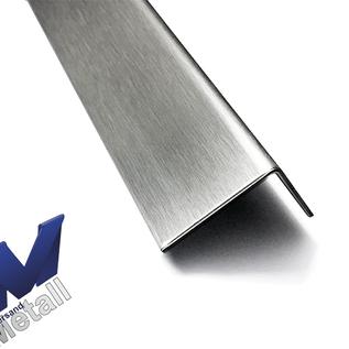 Versandmetall -Set [60 pièces - 120 m] V4A profilé en L axcxb 25x25mm t = 1.5mm L = 2000mm hors sol