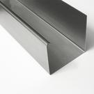 Versandmetall -30mtr ( 15x2mtr) Regenrinne P1 axcxb 20/ 50 /30 , L= 2000mm aus 1,5mm Edelstahl außen Schliff K320