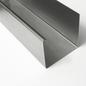 Versandmetall Gooten P1 bakgoot gootprofiel gemaakt van roestvrij Staal 1.4301 buitenzijde geschuurd(grid320) - Copy - Copy