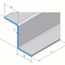 Versandmetall Sonder-Z-Profil   1,0mm Edelstahl einseitig Schliff K320 Höhe 150mm a 70mm b 50mm L2000mm