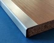 Profil encadrement acier inoxydable pour clôture panneaux, fraisage unilatéral