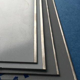 Versandmetall Resten, 10x roestvrij stalen stroken, vanaf 50 mm breed , en lengte 2000mm