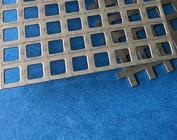 Tôle perforée, tôle à trous carrés, grille en acier inoxydable