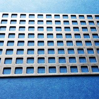 Quadratlochblech aus Edelstahl Qg 8-12 (8er Quadratloch in Reihe und 4mm Stegbreite)