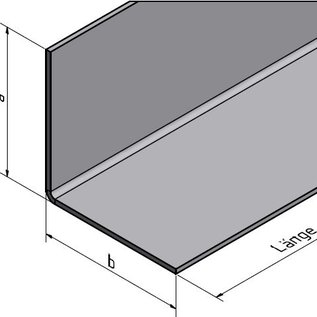 Versandmetall Corniere inox en tôle d'acier inoxydable isocéle 90°, longueur 2000 mm