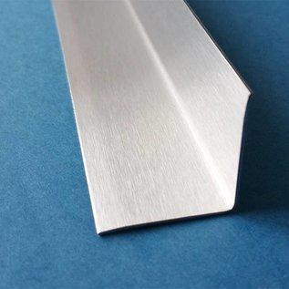 Versandmetall RVS 304 Hoekbeschermer roestvrij Staal Binnenhoek Lengte 1250 mm gelijkzijdig gezet 90°