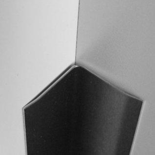 Versandmetall RVS 304 Hoekbeschermer roestvrij Staal binnenhoek Lengte 2500 mm gelijk gezet