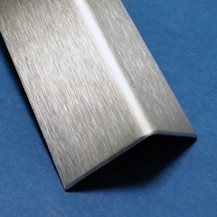 Versandmetall Cornière inox  en tôle d'acier inoxydable inégal 90°, longueur 1250 mm