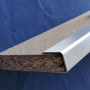 Versandmetall Profil encadrement, Profil U 1,5mm d'acier inoxydable, pour panneaux bois de 10 - 40mm
