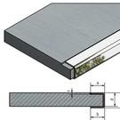 Versandmetall Eindprofiel U-Profiel 1,0 mm voor gefreesde platen