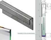 Glasrandprofiel Eindstuk voor Glas Systeemoplossingen