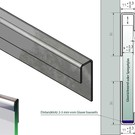 Versandmetall Systéme supports de verre 1mm,  Ensemble d'assemblage a 2 pieces c=11mm, pour verres de 8 jusqu'à 8,52mm