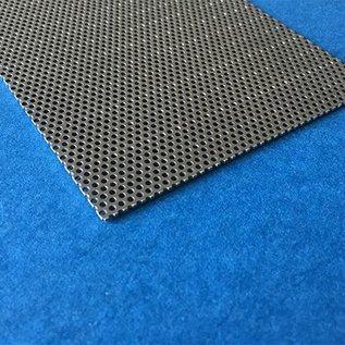 Plaatmaterial, gesneden en geperforeerd, ( rond gat ) , dickte 1.0mm , 1,5mm - 2,5 mm 1,0 mm, gemakt van roestvrij staal, snijkanten open