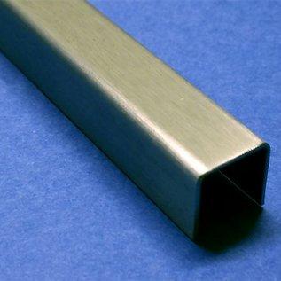 Versandmetall Edelstahl-U-Profil 1,5mm aussen Schliff Korn 320 a+b 50mm c 85mm 2x2200mm 1x 1400mm
