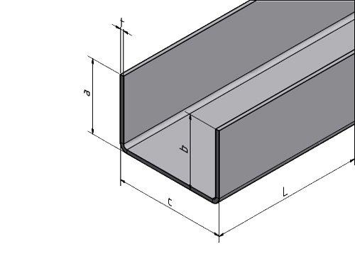Schliff Korn 320. Z-Profil Edelstahl 1.4301 VA V2A 2,0 mm  eins Kantblech
