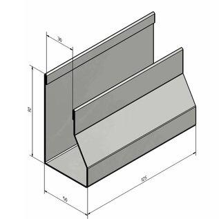 Versandmetall Elegant servethouder gemakt van roestvrij Staal buitenkant geschuurd(grid320)