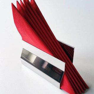 Versandmetall Elegant servethouder gemakt van roestvrij Staal buitenkant glanzend/speigelnde