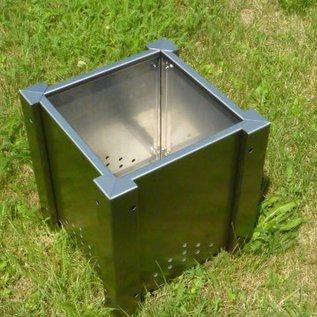 Versandmetall Jardinière en acier inoxydable jardinière pot 38-58cm inoxydable carré