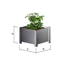 Versandmetall Seau de pot de fleur en acier inoxydable sur pot