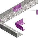 Versandmetall Grindkeringsprofiel Grindprofiel Verbinding klein dubbele Bovenrand gemaakt van roestvrij Staal hoogte 40 - 75 mm