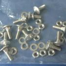 Set van 12 platkopschroeven met vierkante hals M5