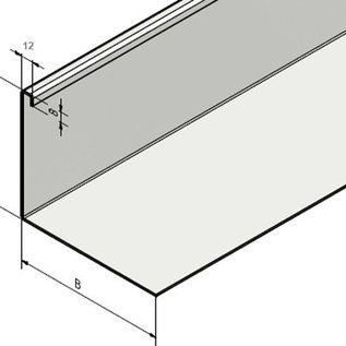 Versandmetall Bande de gravier , petite non perforée - acier inoxydable 1.4301 - 90 °