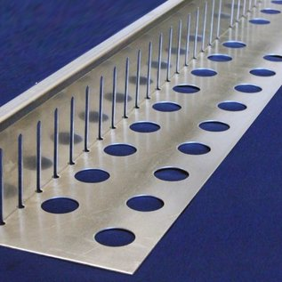Versandmetall Bande de gravier grande - aluminium Al99.5 - perforée - pliée à 90 °