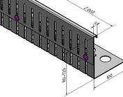 Bandes de Gravier  en acier inoxydable réglables en hauteur