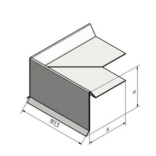 Versandmetall Dakrandprofiel Windflap Dakrand dakprofiel vor plat dak of schuin dak 3X gezet