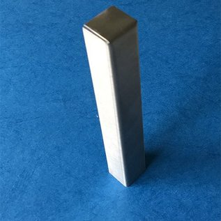 Versandmetall Endstück, Endkappe stabile Rasenkanten Beeteinfassun Edelstahl rostfrei 130-250mm