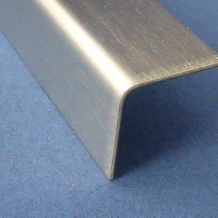 Versandmetall -4 Edelstahlwinkel 1,0mm K320 40x70mm 90° 2xL2000mm 2xL1500