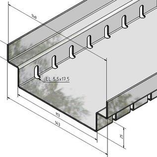 Versandmetall Caniveau de drainage Aluminium  Largeur d'entrée 90 à 190 mm Drainage des surfaces