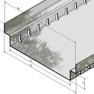 """Versandmetall Draingoten Afvoergoten Roostergoot vorm """"A"""" gemaakt van Aluminium inlaat 90mm tot 190mm drainage en afvoer van het oppervlaktewater"""