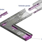 Versandmetall Connecteurs, embouts pour caniveau de drainage en aluminium