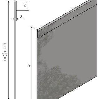 Versandmetall Graskanten met dubbele bovenrand Sparset roestvrij Staal, hoogte 160 - 250 mm