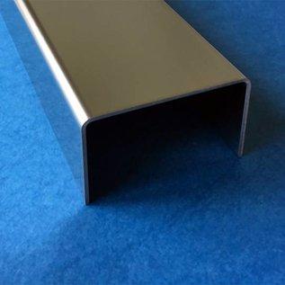 Versandmetall U-Profiel roestvrij Staal gezet Breedte c 70 tot 100 mm Lengte 1250 mm