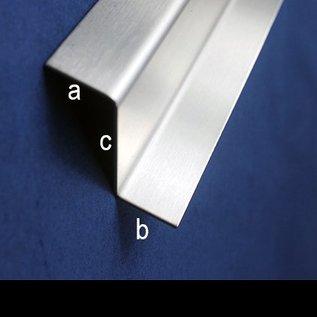 Versandmetall Profil en Z en acier inoxydable hauteur c 35 à 60mm et longueur 1250 mm