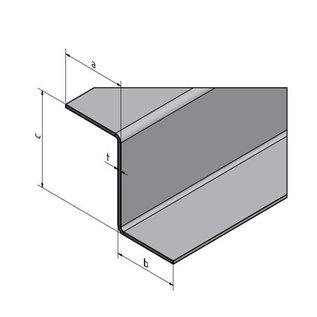 Versandmetall Z-Profil aus Edelstahl gekantet Höhe c 35 bis 60mm und Länge 2000 mm