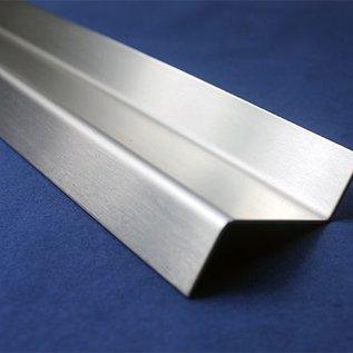 Versandmetall Z-Profil aus Edelstahl gekantet Höhe c 70 bis 100mm und Länge 1250 mm