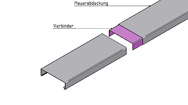 Mauerabdeckung Attikaabdeckung Aus Aluminium Oder Edelstahl Von