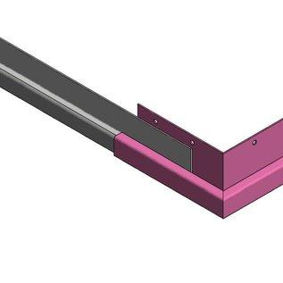 Versandmetall Gouttière P1 - connecteur angle exterieur 90° - acier inox surface brossé  en grain 320,
