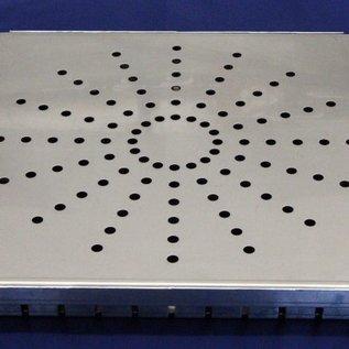 Versandmetall Grille d'entrée égout en acier inoxydable 1,5mm, brossé  en grain 320
