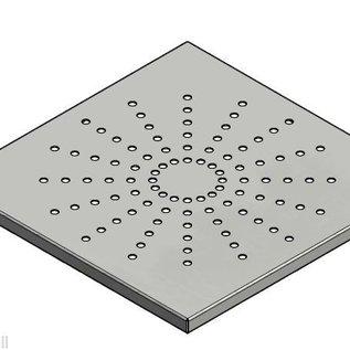 Versandmetall Einlaufrost Drain-Gulli aus 1,5mm Edelstahl außen Schliff K320