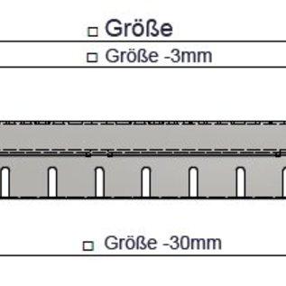 Versandmetall Afvoer drainage geul montuur Onderbouw vast zonder inlaatrooster gemaakt van Aluminium 1,5mm