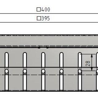 Versandmetall Cadre de l'égout variable 70-95mm, en aluminium 1,5mm, sans grille d'entrée