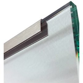Versandmetall Profil encadrement inox pour vitrage de balcon, 1,0mm, longueur jusqu'à 2500mm