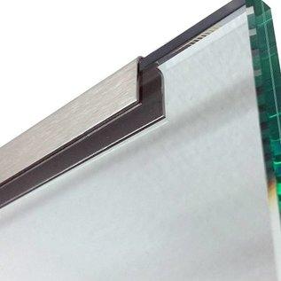 Versandmetall Profil encadrement pour vitrage de balcon, en acier inoxydable de 1,0mm, pour verres de 8 jusqu'à 21,52mm,